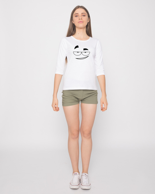 Shop Dead Eyes Round Neck 3/4th Sleeve T-Shirt