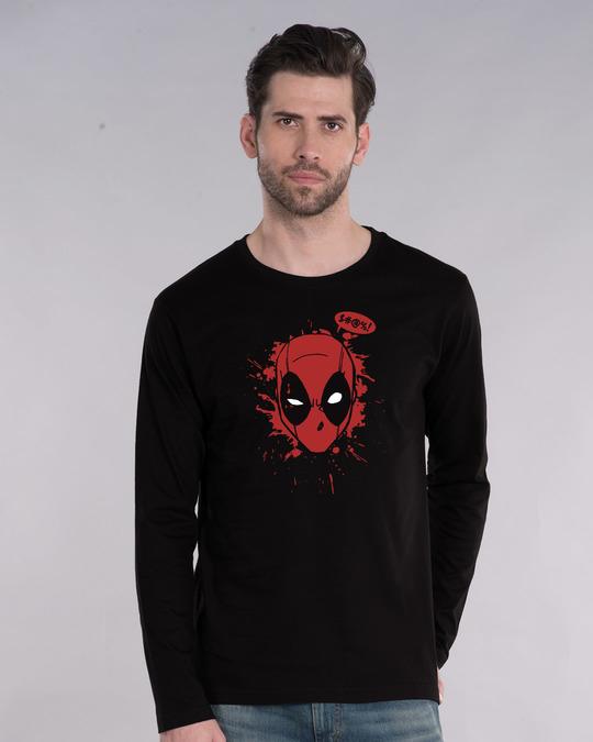 Shop Deadpool Abuse Full Sleeve T-Shirt (DPL)-Front