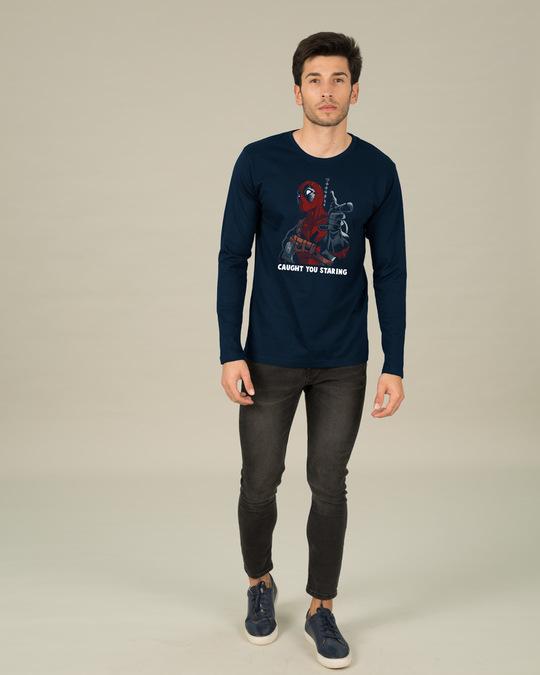 Shop Deadpool Caught You Full Sleeve T-Shirt (DPL)-Design