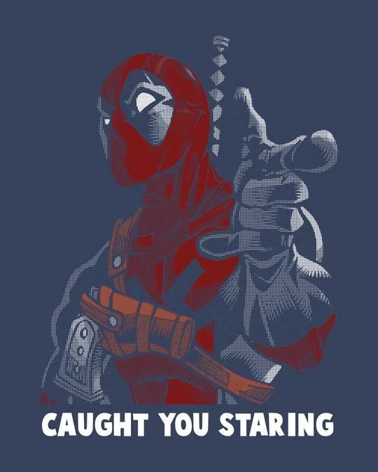 Shop Deadpool Caught You Half Sleeve T-Shirt (DPL)-Full