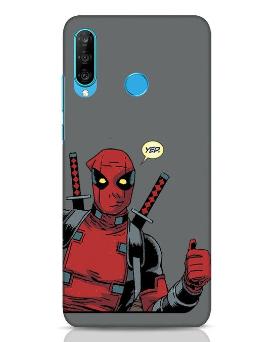 Shop Deadpool Convo Huawei P30 Lite Mobile Cover-Front