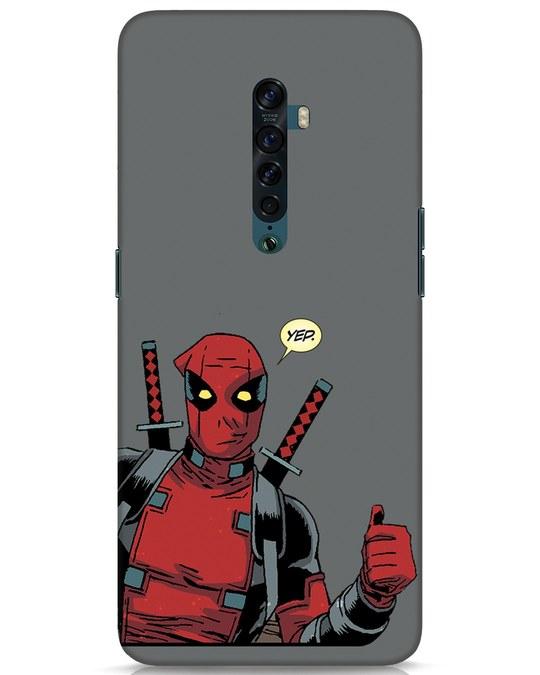Shop Deadpool Convo Oppo Reno 2 Mobile Cover-Front