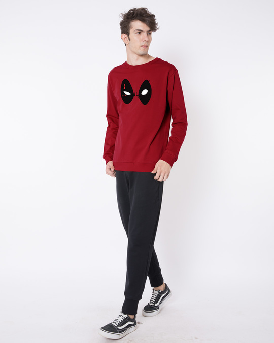 Shop Deadpool Eyes Fleece Light Sweatshirt (DPL)-Design