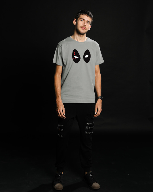 Shop Deadpool Eyes Half Sleeve T-Shirt (DPL)-Full