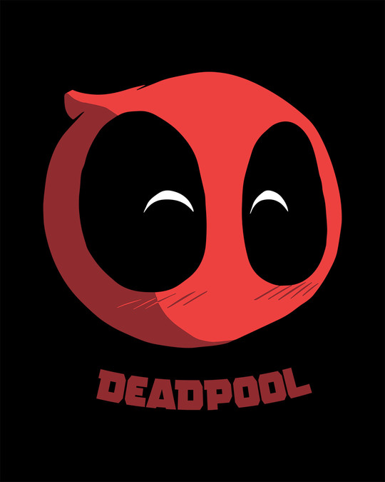 Shop Deadpool Face Boyfriend T-Shirt (DPL)