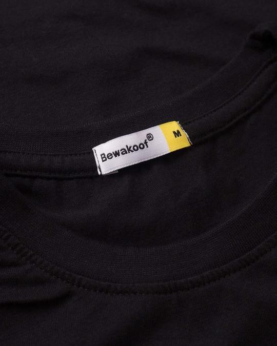 Shop Deadpool Face Half Sleeve T-Shirt (DPL)