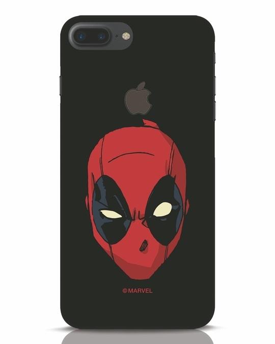 Shop Deadpool Face iPhone 7 Plus Logo Cut Mobile Cover (DPL)-Front
