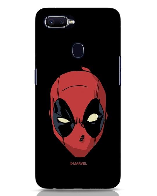 Shop Deadpool Face Oppo F9 Pro Mobile Cover (DPL)-Front