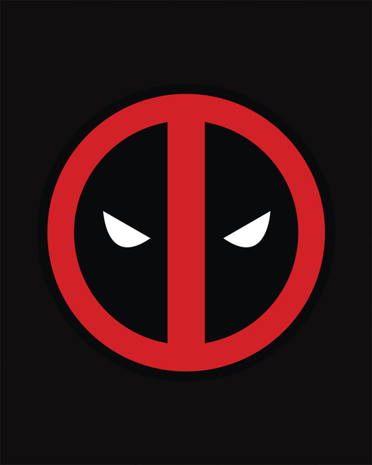 Shop Deadpool Face Printed Badge Vest ( DPL )