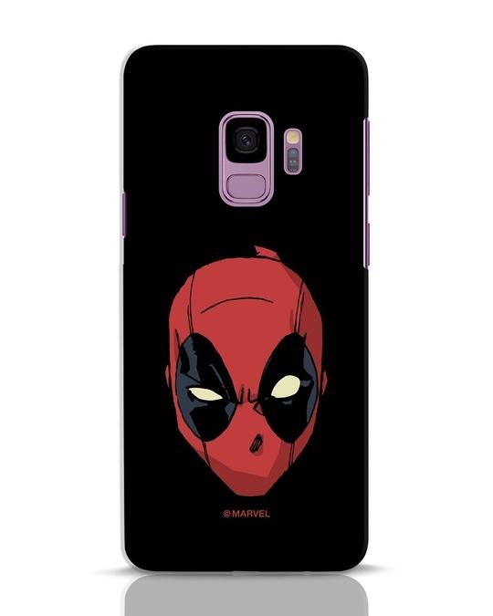 Shop Deadpool Face Samsung Galaxy S9 Mobile Cover (DPL)-Front