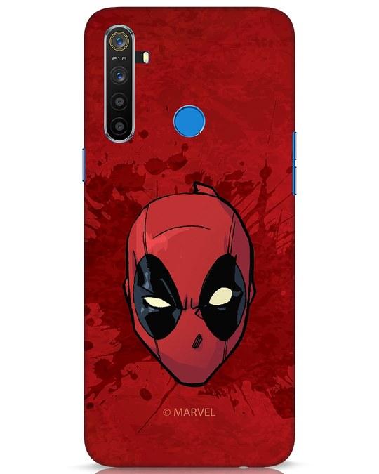 Shop Deadpool Face Splatter Realme 5 Mobile Cover (DPL)-Front