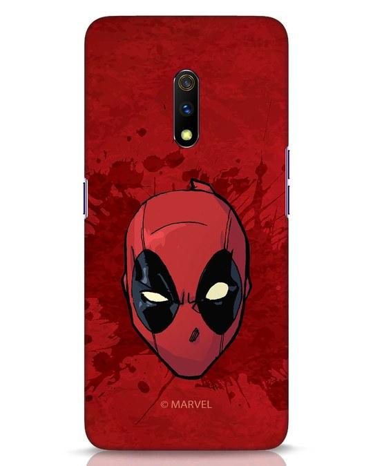 Shop Deadpool Face Splatter Realme X Mobile Cover (DPL)-Front