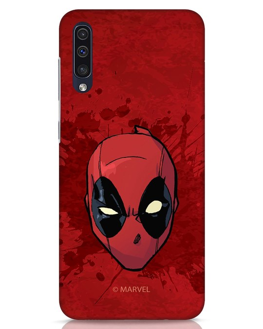 Shop Deadpool Face Splatter Samsung Galaxy A50 Mobile Cover (DPL)-Front