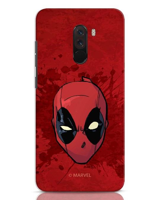 Shop Deadpool Face Splatter Xiaomi POCO F1 Mobile Cover (DPL)-Front