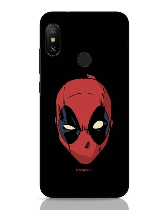 Shop Deadpool Face Xiaomi Redmi 6 Pro Mobile Cover (DPL)-Front