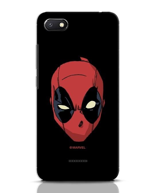 Shop Deadpool Face Xiaomi Redmi 6A Mobile Cover (DPL)-Front