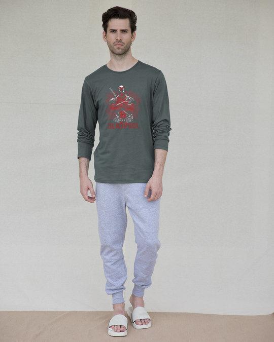 Shop Deadpool Full Sleeve T-Shirt (DPL)-Full
