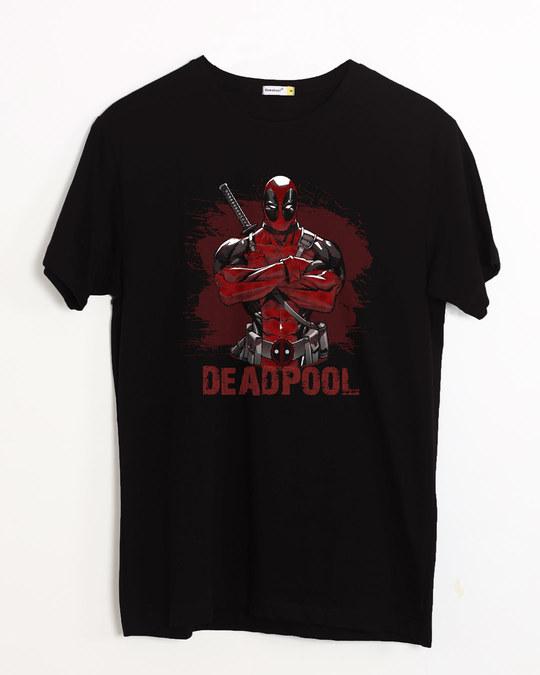 Shop Deadpool Half Sleeve T-Shirt (DPL)-Front
