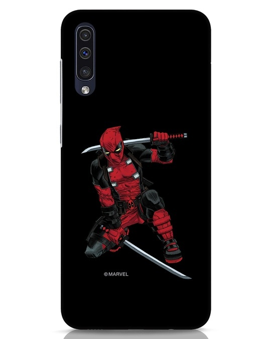 Shop Deadpool In Action Samsung Galaxy A50 Mobile Cover (AVL)-Front