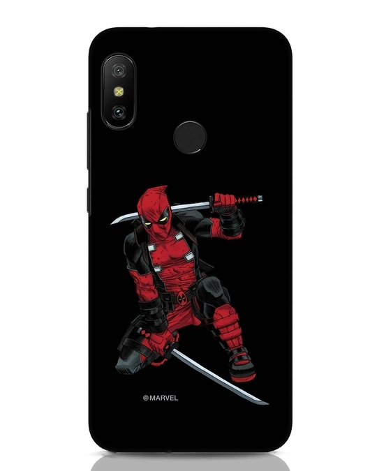 Shop Deadpool In Action Xiaomi Redmi Note 6 Pro Mobile Cover (AVL)-Front