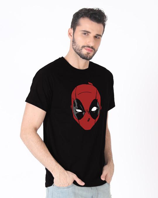 Shop Deadpool Mask Half Sleeve T-Shirt (DPL)-Full