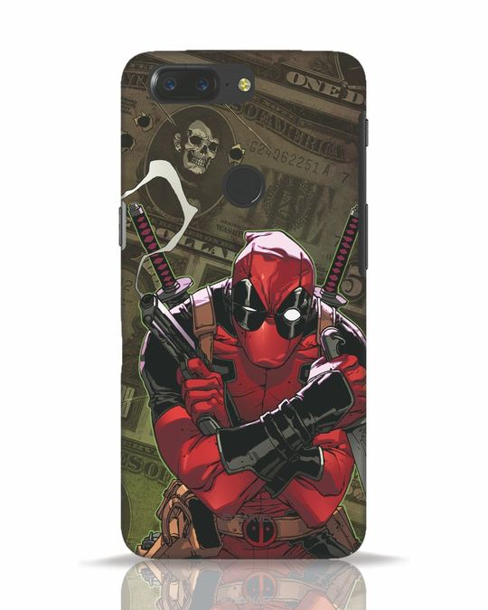 Shop Deadpool Mercenary OnePlus 5T Mobile Cover (DPL)-Front