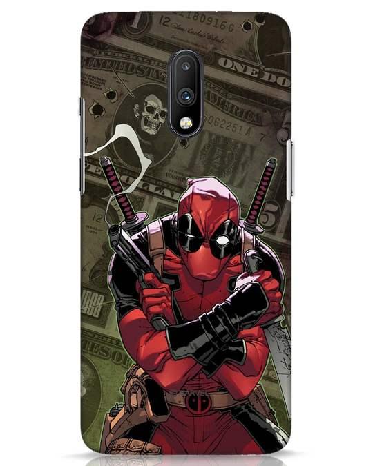 Shop Deadpool Mercenary OnePlus 7 Mobile Cover (DPL)-Front