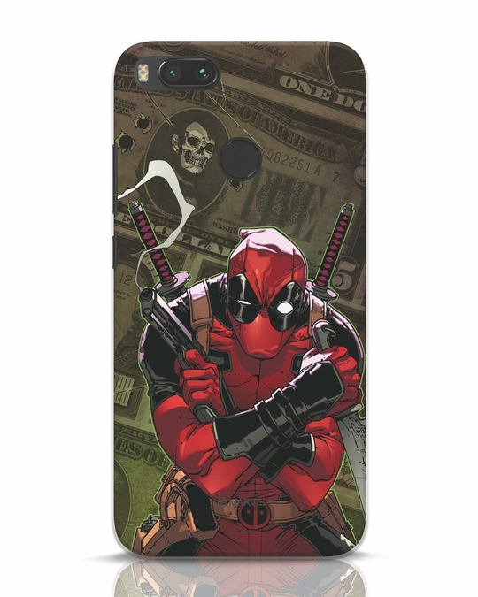 Shop Deadpool Mercenary Xiaomi Mi A1 Mobile Cover (DPL)-Front