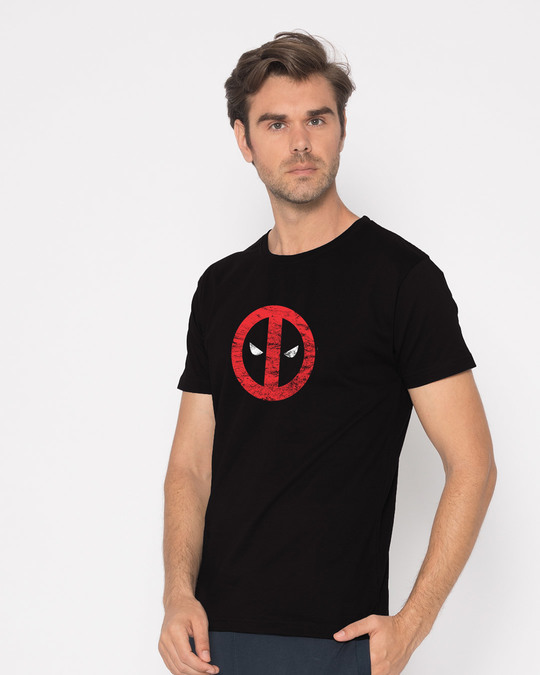 Shop Deadpool Minimal Half Sleeve T-Shirt (DPL)-Design