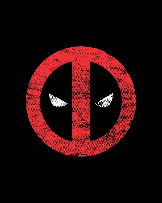 Shop Deadpool Minimal Half Sleeve T-Shirt (DPL)