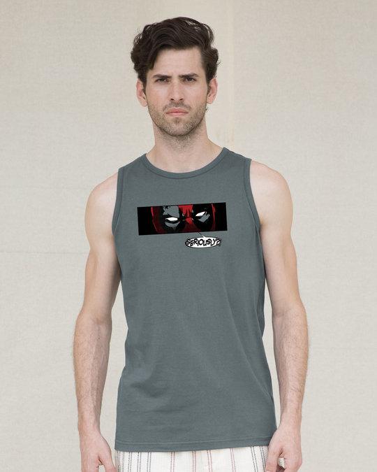 Shop Deadpool Seriously? Vest (DPL)-Front