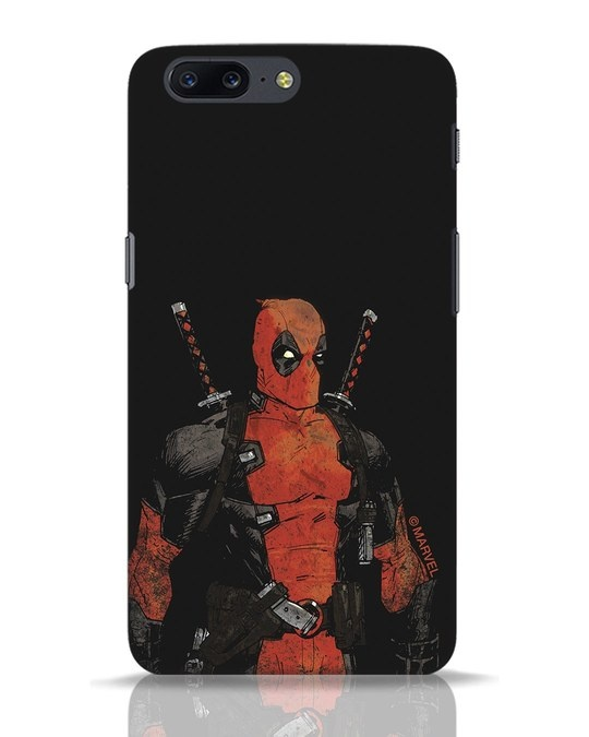 Shop Deadpool Shadows OnePlus 5 Mobile Cover (DPL)-Front