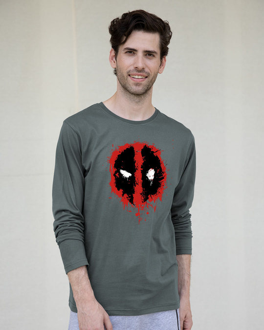 Shop Deadpool Splash Full Sleeve T-Shirt (DPL)-Front