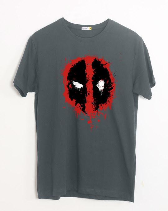 Shop Deadpool Splash Half Sleeve T-Shirt (DPL)-Front
