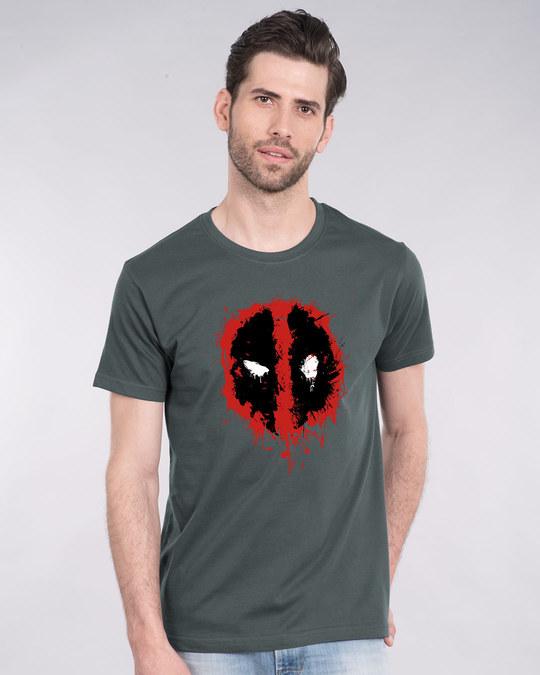 Shop Deadpool Splash Half Sleeve T-Shirt (DPL)-Back