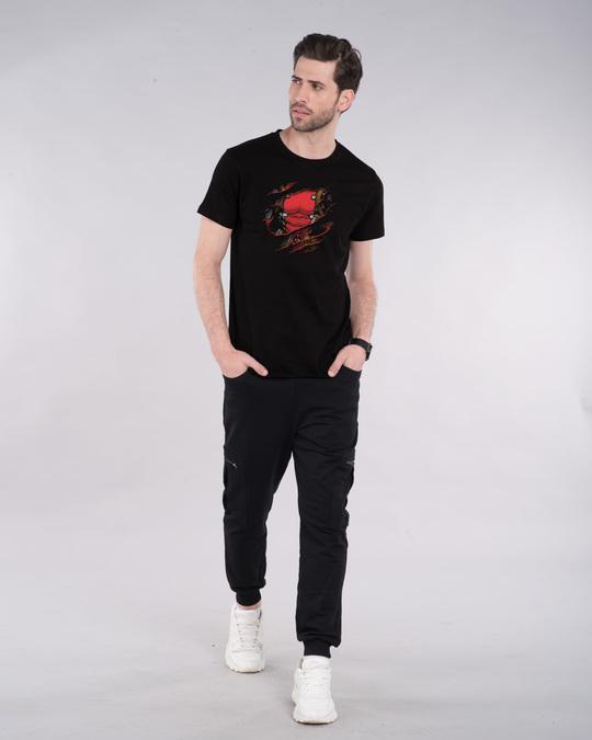 Shop Deadpool Torn Half Sleeve T-Shirt (DPL)-Design