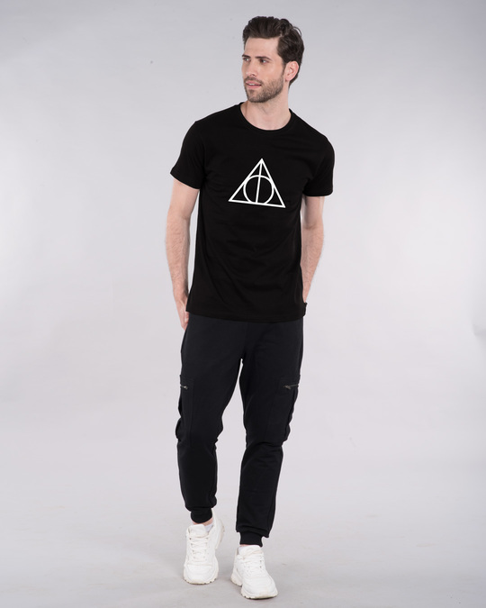 Shop Deathly Hallows Glow In Dark Half Sleeve T-Shirt (HPL) -Design