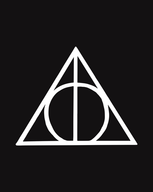 Shop Deathly Hallows Glow In Dark Half Sleeve T-Shirt (HPL) -Full