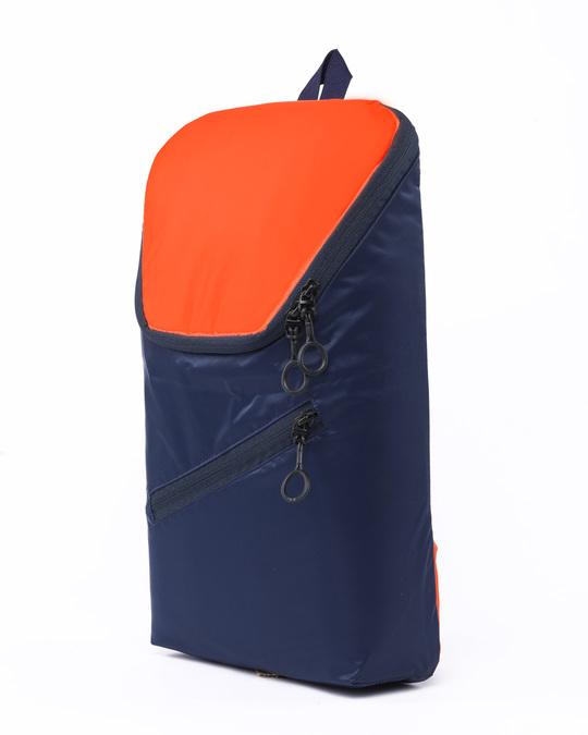 Shop Deep Blue - Spark Orange Mini Backpack-Back