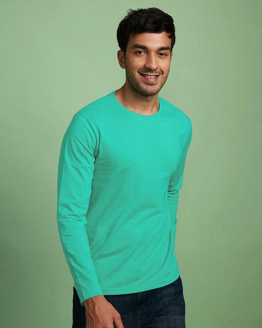 Shop Men's Full Sleeve Pack of 2 (Black & Green)-Back
