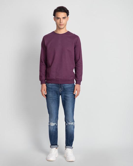 Shop Deep Purple Fleece Light Sweatshirt-Full