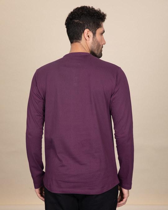 Shop Deep Purple Full Sleeve Henley T-Shirt-Design