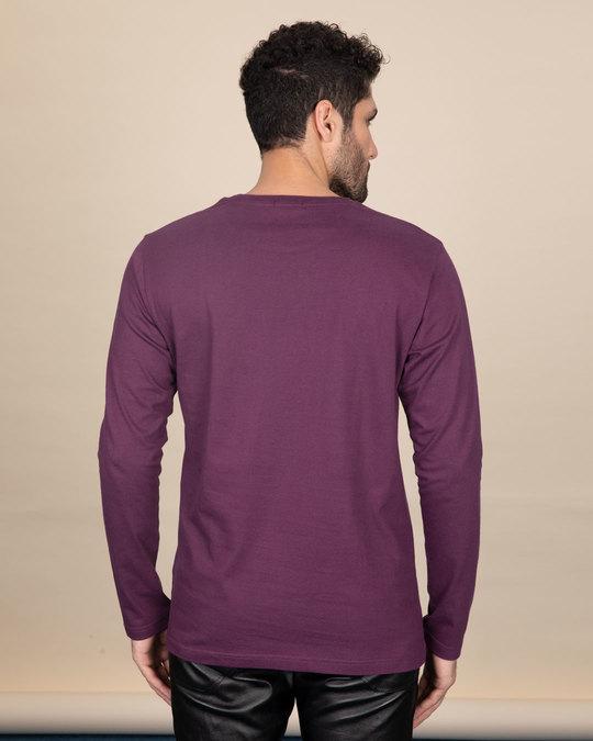 Shop Deep Purple Full Sleeve T-Shirt-Full