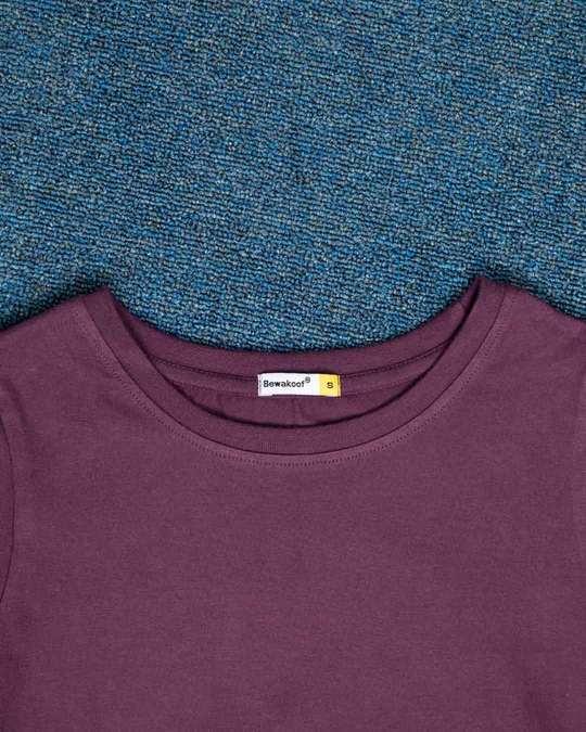 Shop Deep Purple Full Sleeve T-Shirt