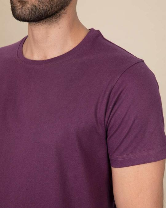 Shop Deep Purple Half Sleeve T-Shirt