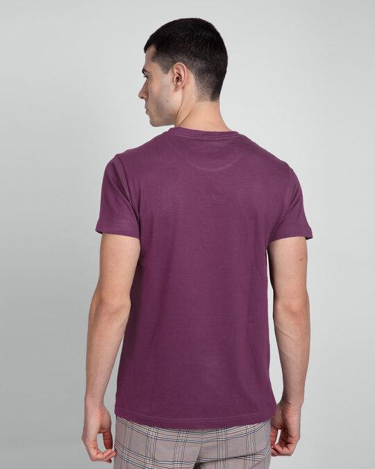 Shop Deep Purple Half Sleeve T-Shirt-Design
