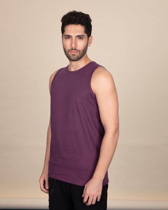 Shop Deep Purple Vest-Back