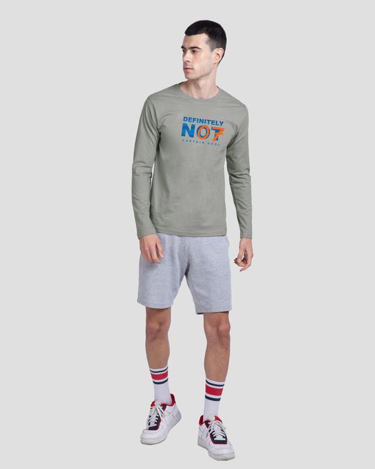 Shop Definitely Not 7 Full Sleeve T-Shirt Meteor Grey-Full