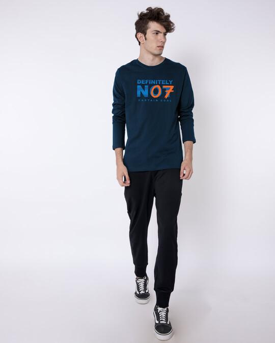 Shop Definitely Not 7 Full Sleeve T-Shirt Navy Blue-Full