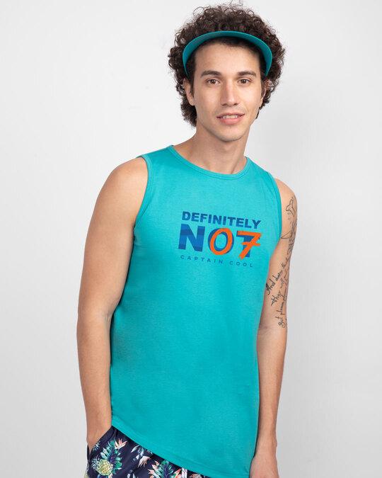 Shop Definitely Not 7 Round Neck Vest Tropical Blue-Back